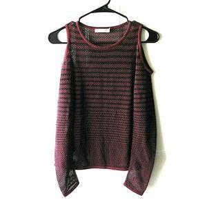 Rag and Bone Striped Cold Shoulder Sweater